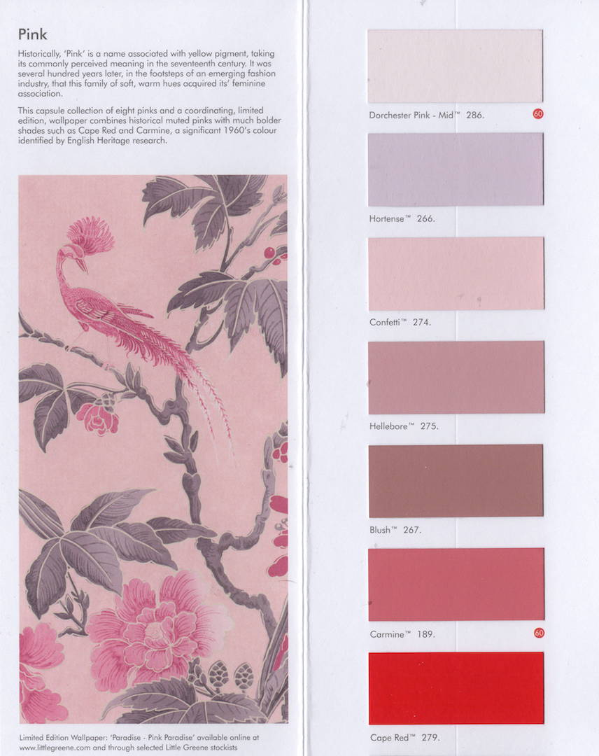 Limited edition Pink van Little Greene