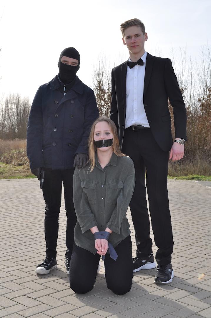 Styling ID blog: The making of The Experience Cast actiescène Thijs Dijkhuizen, Floor en Tim de Kler