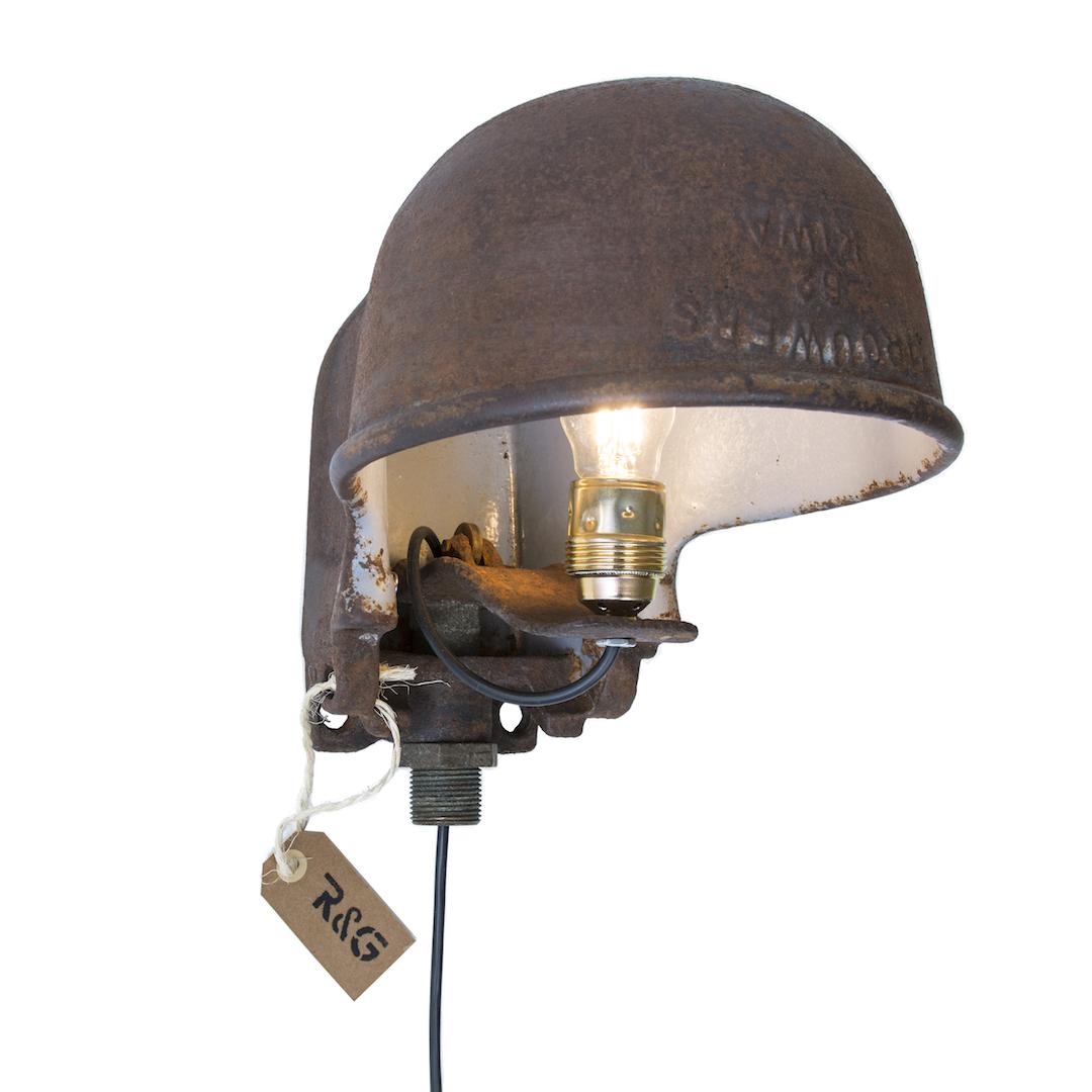 Styling ID Blog Passie voor stoere verlichting met een verhaal Ruig&Geroest wandlamp drinkbak