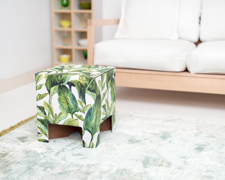 Styling ID blog Hippe krukjes Dutch Design Chair green leaves