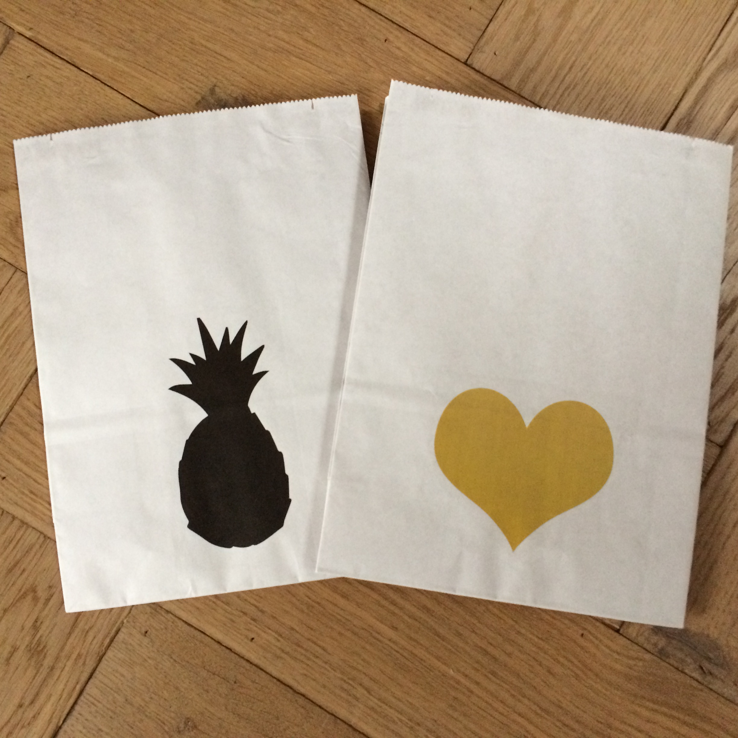 Styling ID Giveaway Hippe paper bags ananas en hart