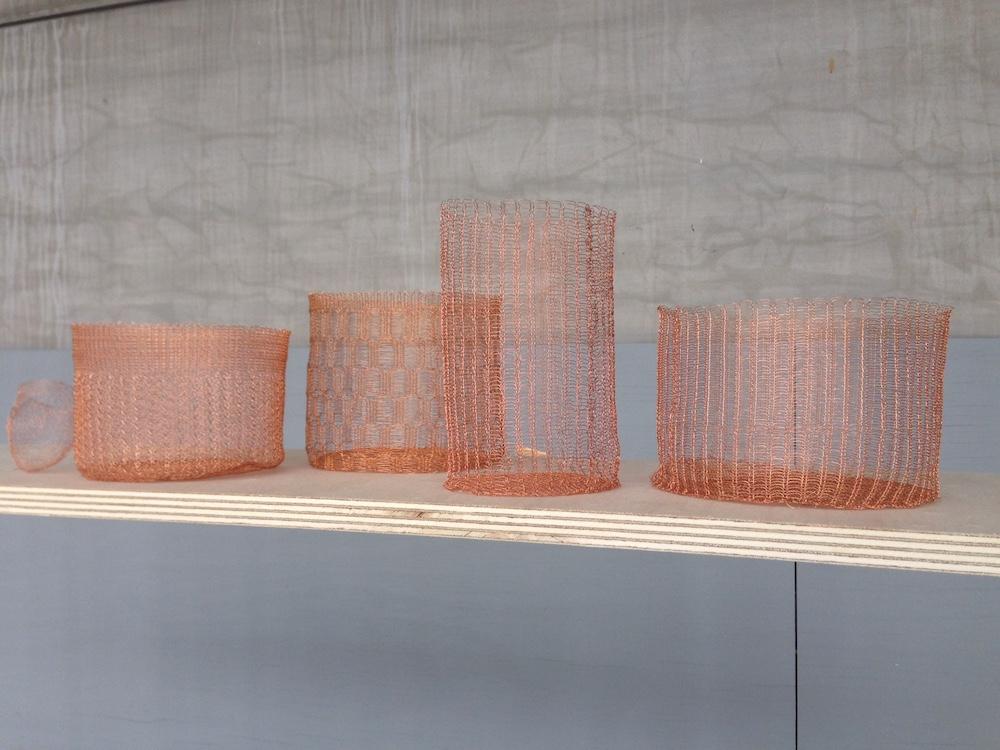 Nieuw Design en Trends gespot tijdens Design District 2017 knitted copper