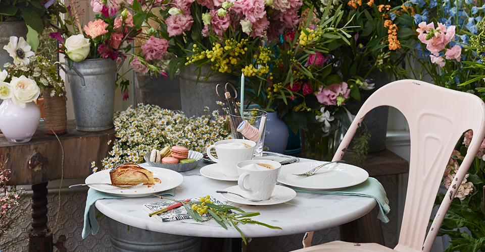 Styling ID Tips & Trends Flower Power Villeroy & Boch caffe club floral touch