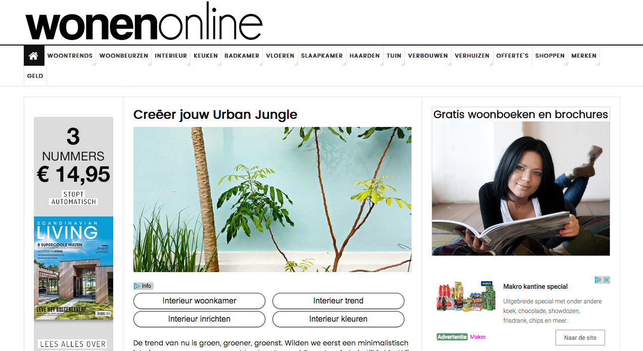 Styling ID Blogs op Wonenonline.nl creeer jouw urban jungle