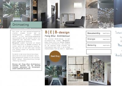Promotionele bedrijfsblog voor BEB-design