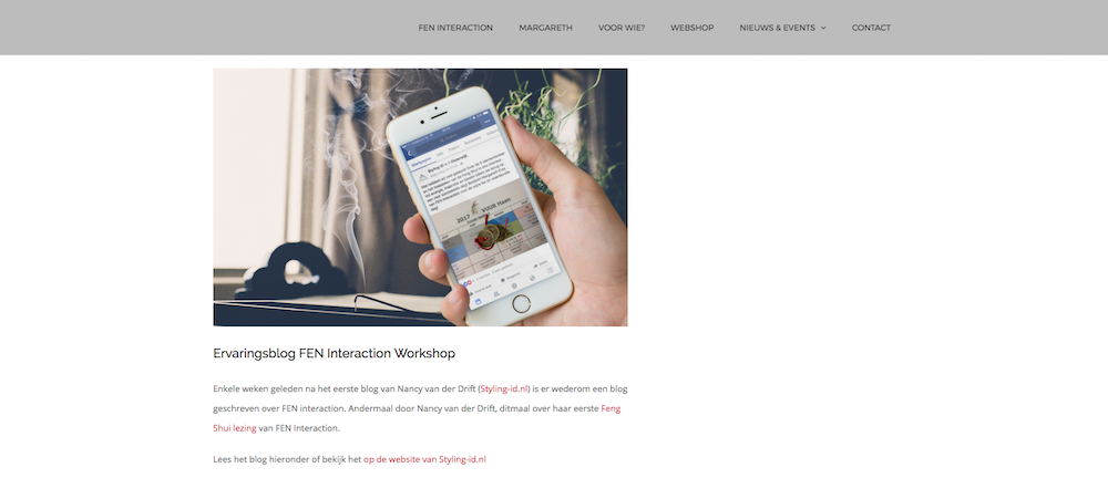Styling ID Spirituele blogs voor Fen Interaction