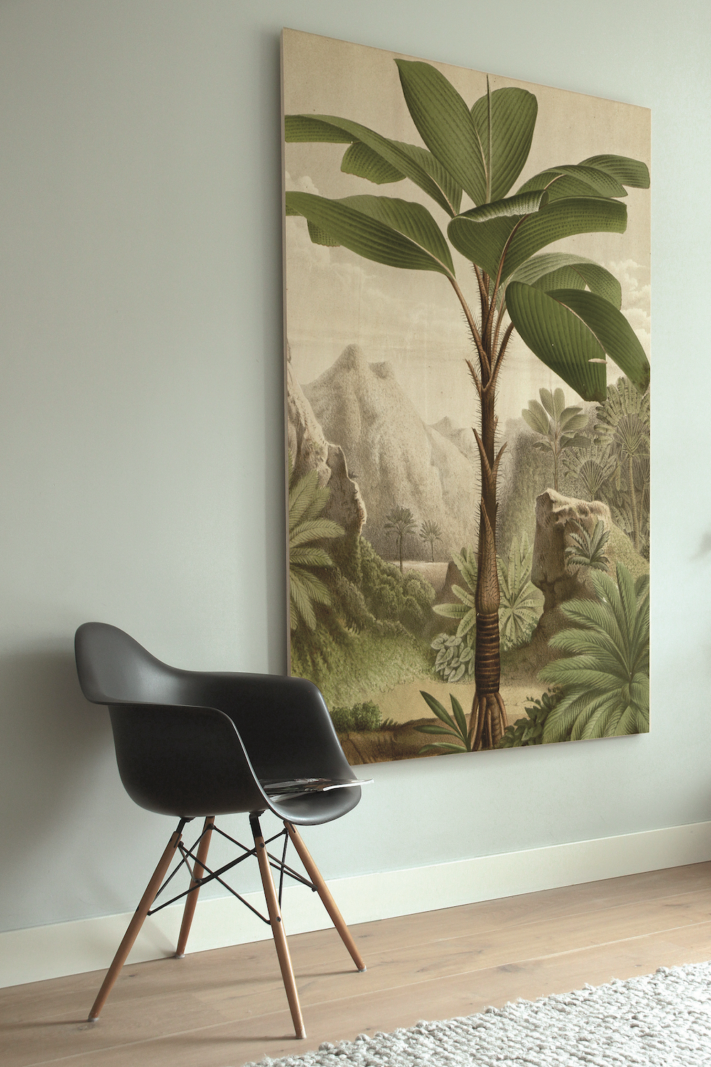 Styling ID Tips en Trends Houten muurdecoraties van KEK Amsterdam print op hout banana tree