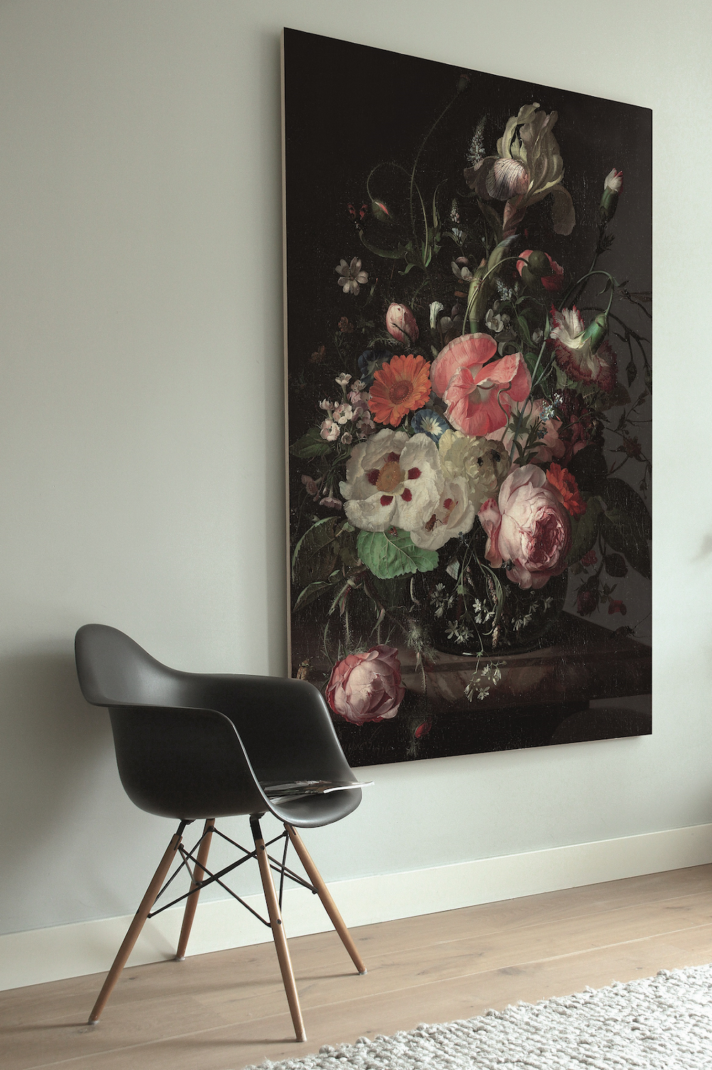 Styling ID Tips en Trends Houten muurdecoraties van KEK Amsterdam print op hout golden age flowers