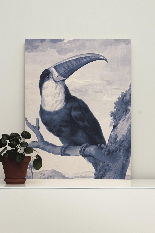 Styling ID Tips en Trends Houten muurdecoraties van KEK Amsterdam print op hout royal-blue-toecan