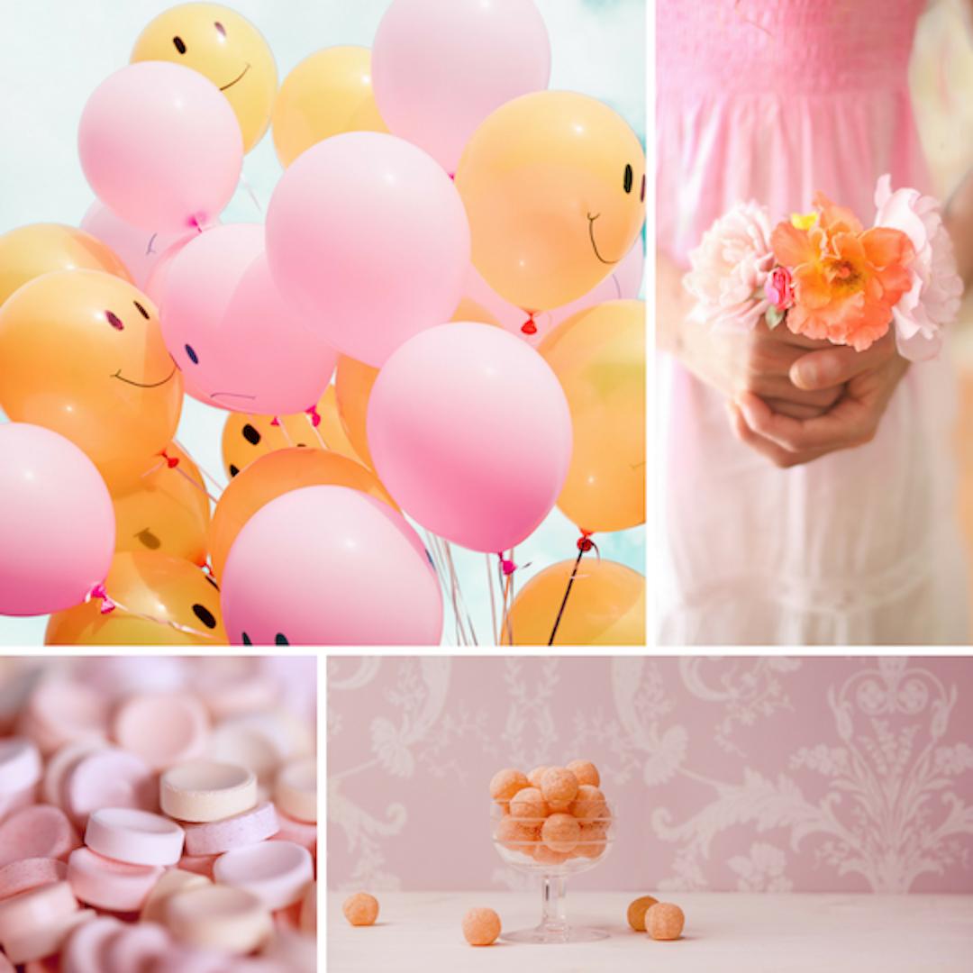 Stylng ID Mini Moodboard 2 Klassiek, Landelijk, Romantisch en Vrolijk, oranje en roze