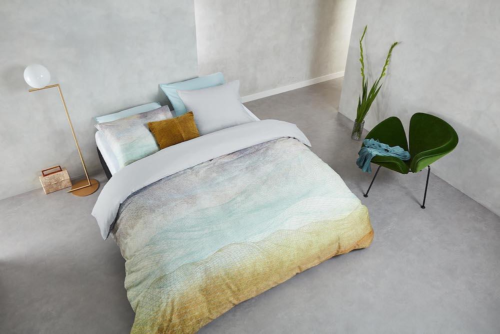 Styling ID Tips & Trends Uniek bedtextiel in 6 elegante dessins Lagune-Bluegreen