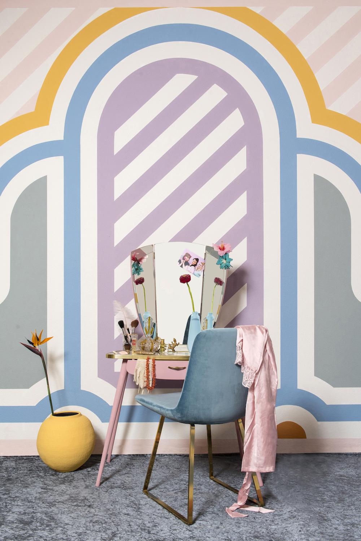 Multi kleurenpalet in Art Deco stijl