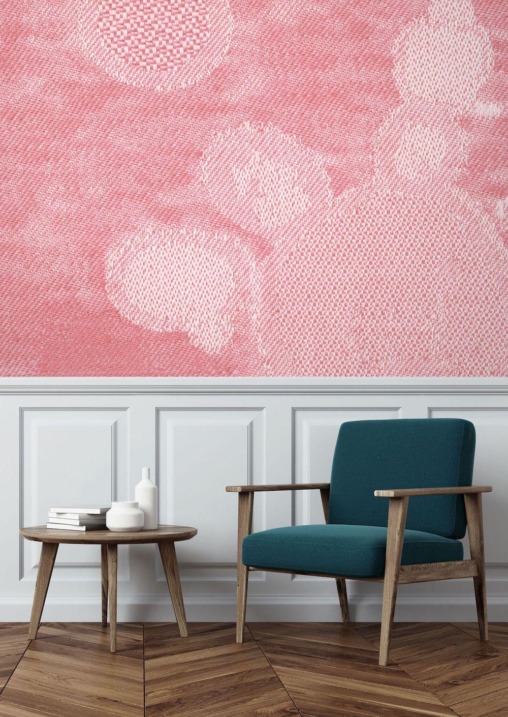 Styling ID Tips en Trends KEK Amsterdam lanceert behangcollectie met textiel look Roos-Soetekauw-Roze