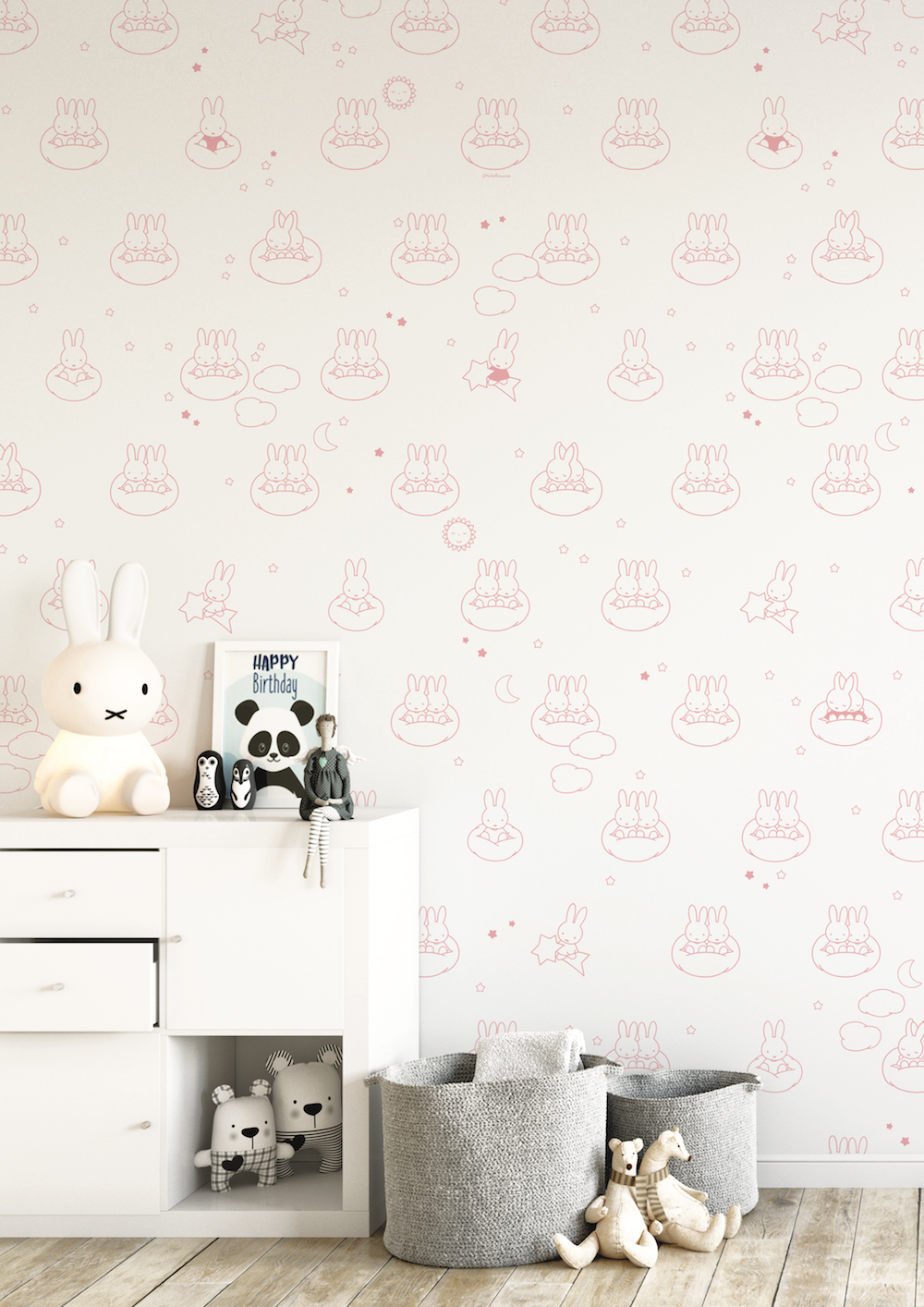 Styling ID Tips en Trends Vrolijk Nijntje behang voor de babykamer 4