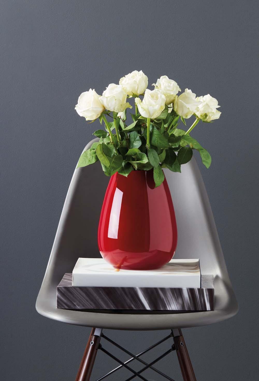 Styling ID Tips en Trends stijlvolle vazen voor een prachtig boeket rood villeroy & boch