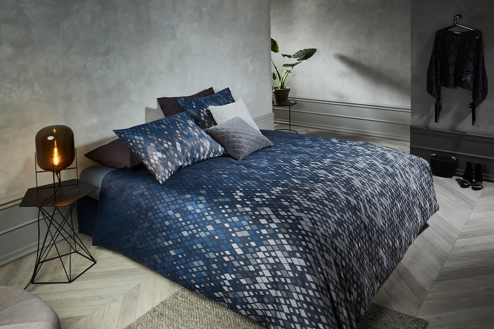 Styling ID Tips en Trends bedtextiel met kleurrijke dessins Little Lozenge_Blue-21_Mood
