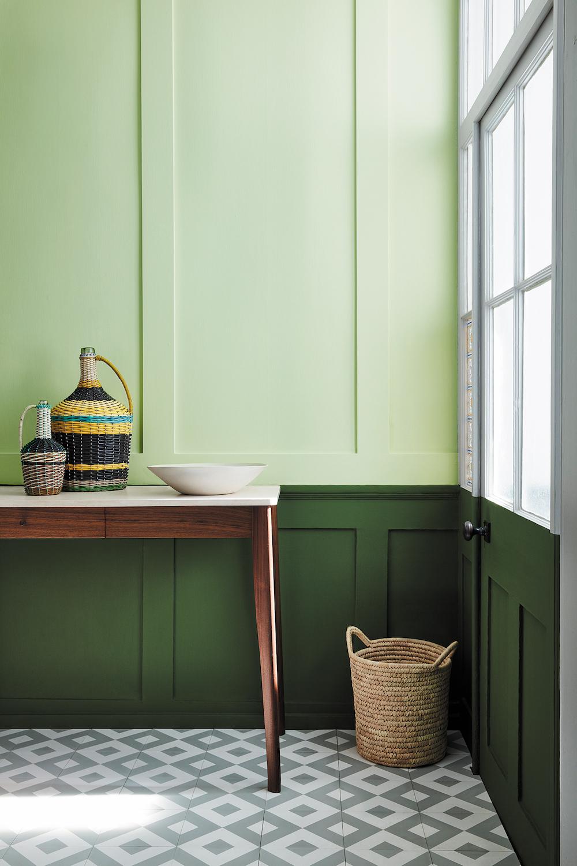 Styling ID Tips en Trends Fijne groentinten passend bij hedendaags interieur design--Little Greene_Green_22 - Acorn 87 & Hopper 297_EMAIL