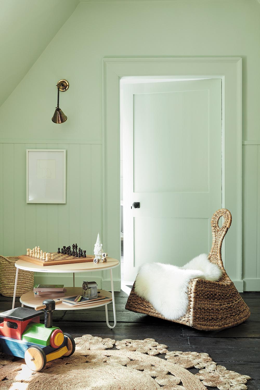 Styling ID Tips en Trends Fijne groentinten passend bij hedendaags interieur design -- Little Greene_Green_3 - Hidey Hole 307 & Loft White 222_EMAIL