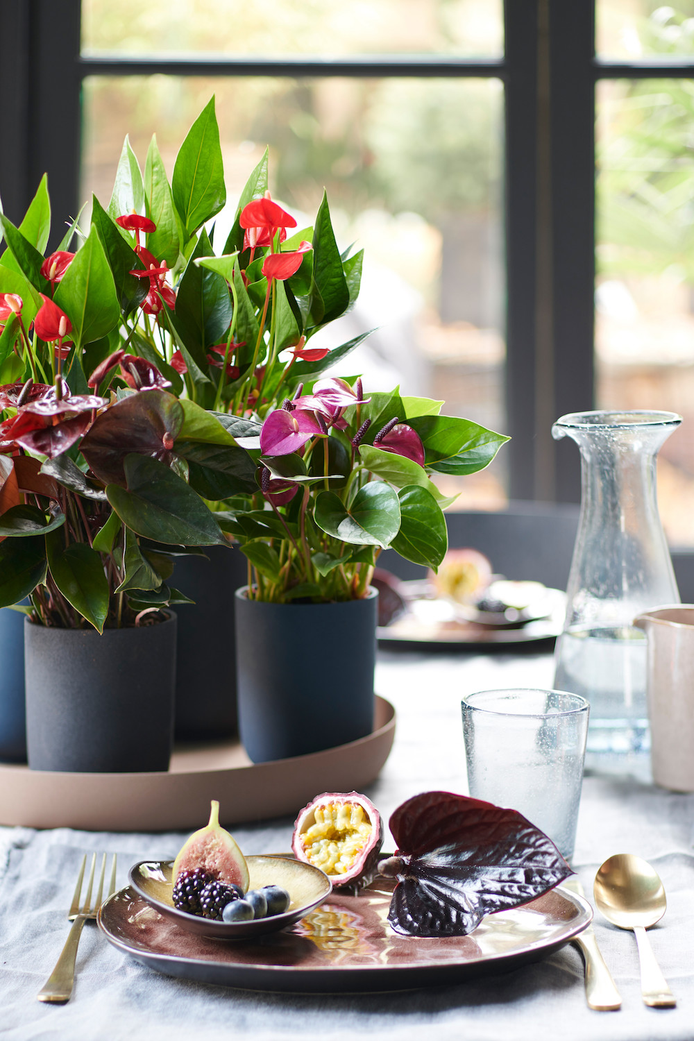 Anthurium voor extra sfeer in het interieur styling id for Interieur styling tips