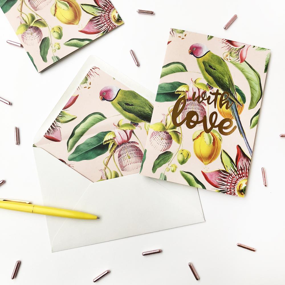 Styling ID Tips en Trends Zegt het met een handgeschreven kaart CREATIVE LAB AMSTERDAM BotanicalGarden-Love
