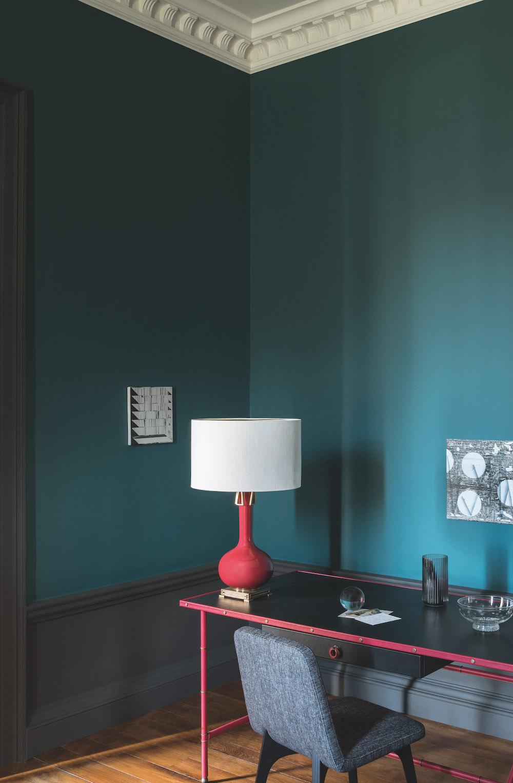 Styling ID tips en trends Paint and Paper Library komt met superieure en matte interieurverf 7. TEAL, ACQUA VIVA