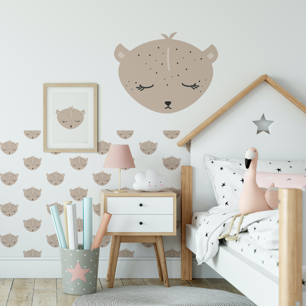 Styling ID Tips en Trends Geef de kinderkamer een dierenthema luipaard-behang