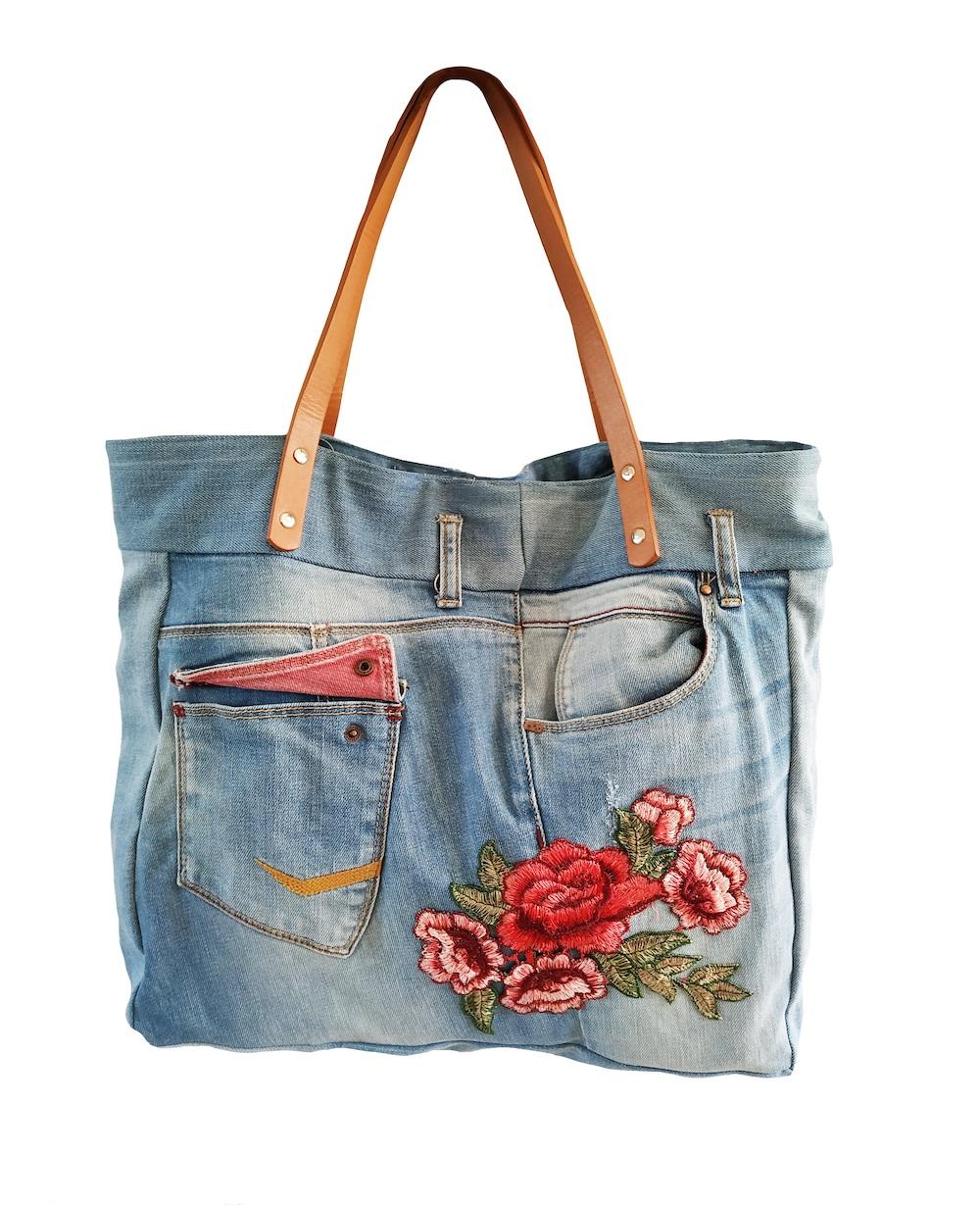 Styling ID tips en trends Trendy woondekens tas-van-gerecyclede-jeans