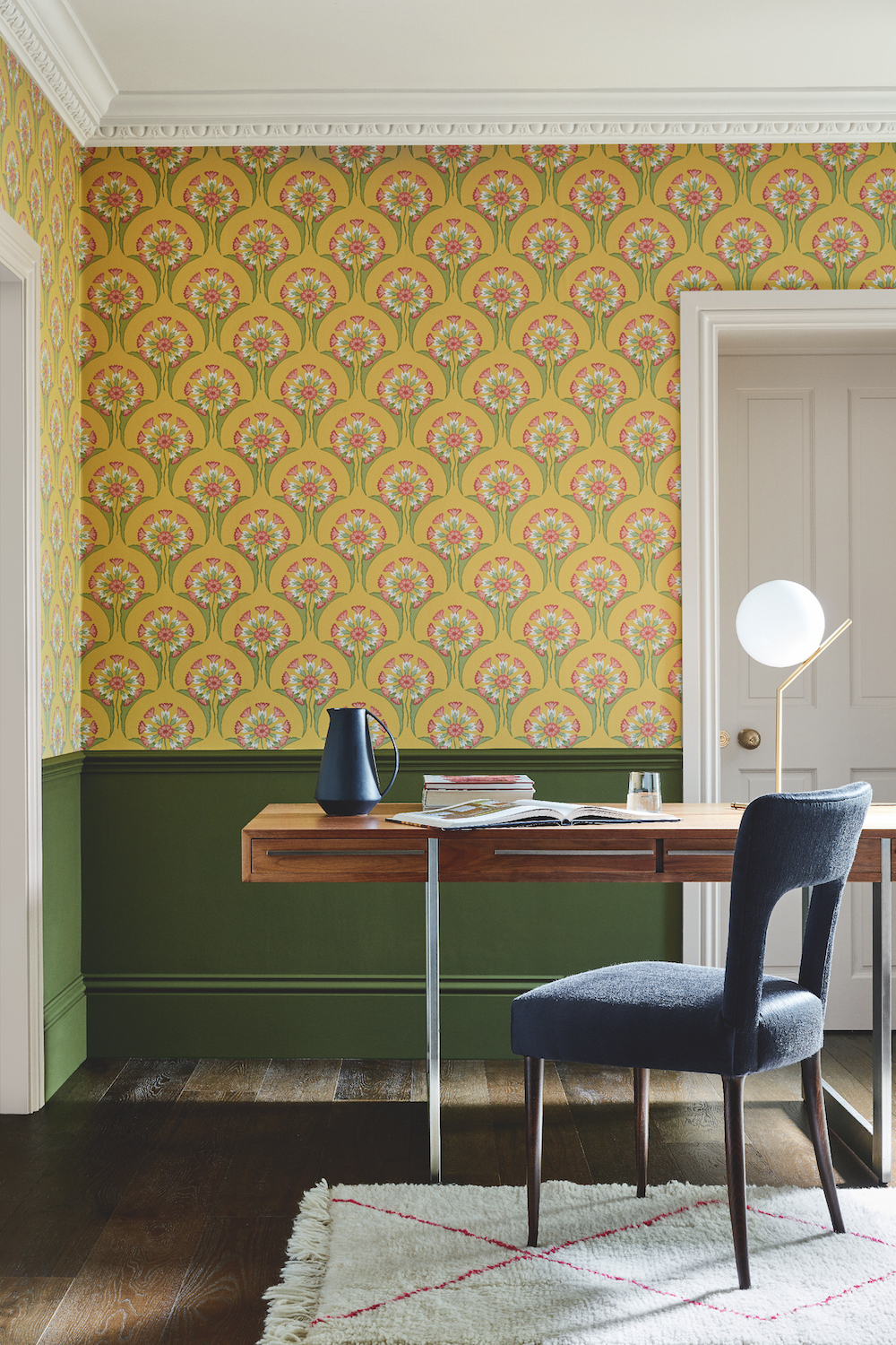 Styling ID Tips en Trends Little Greene behangcollectie: The National Trust Papers Hencroft_Punch