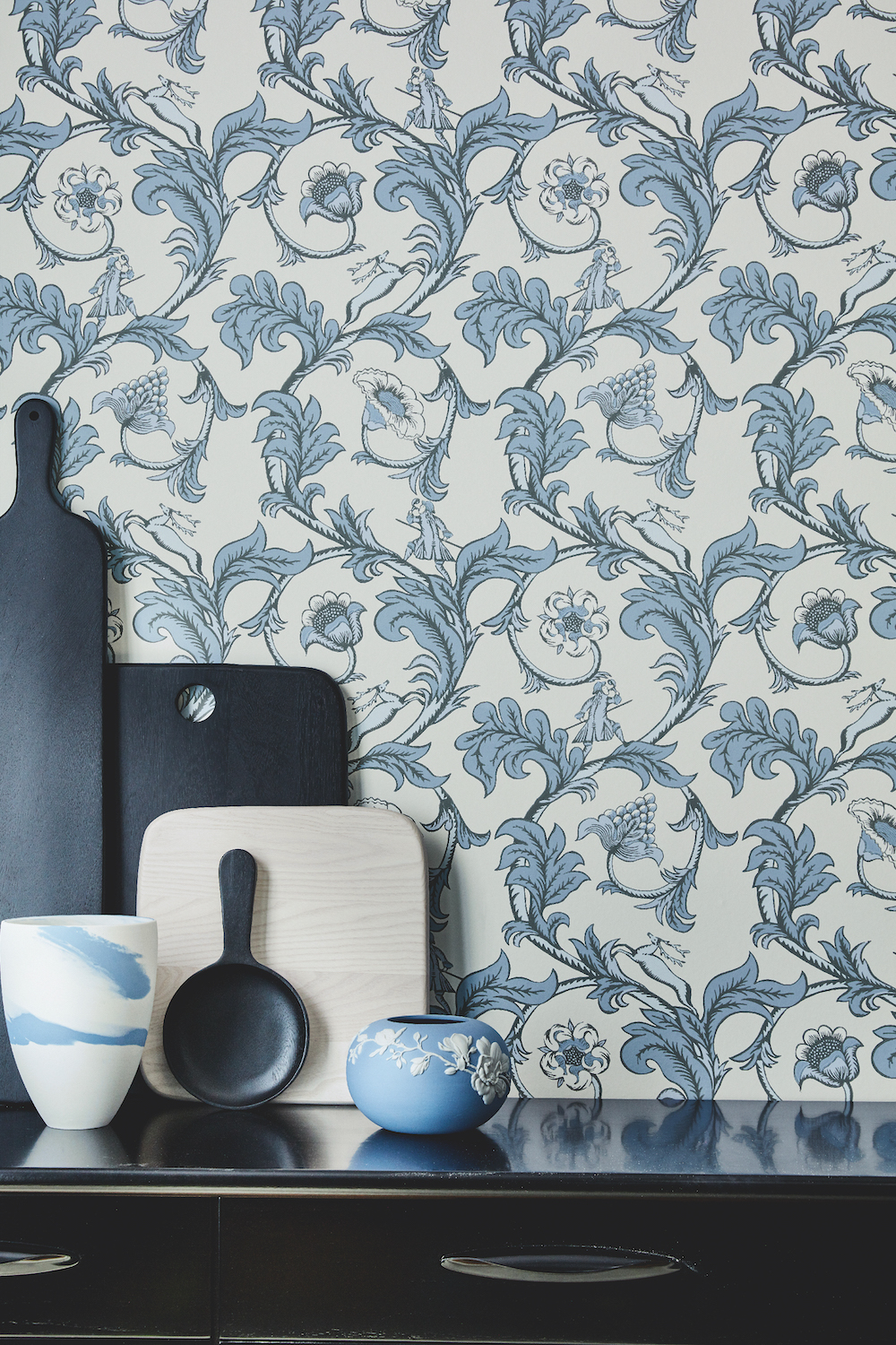Styling ID Tips en Trends Little Greene behangcollectie: The National Trust Papers Stag Trail_Sky