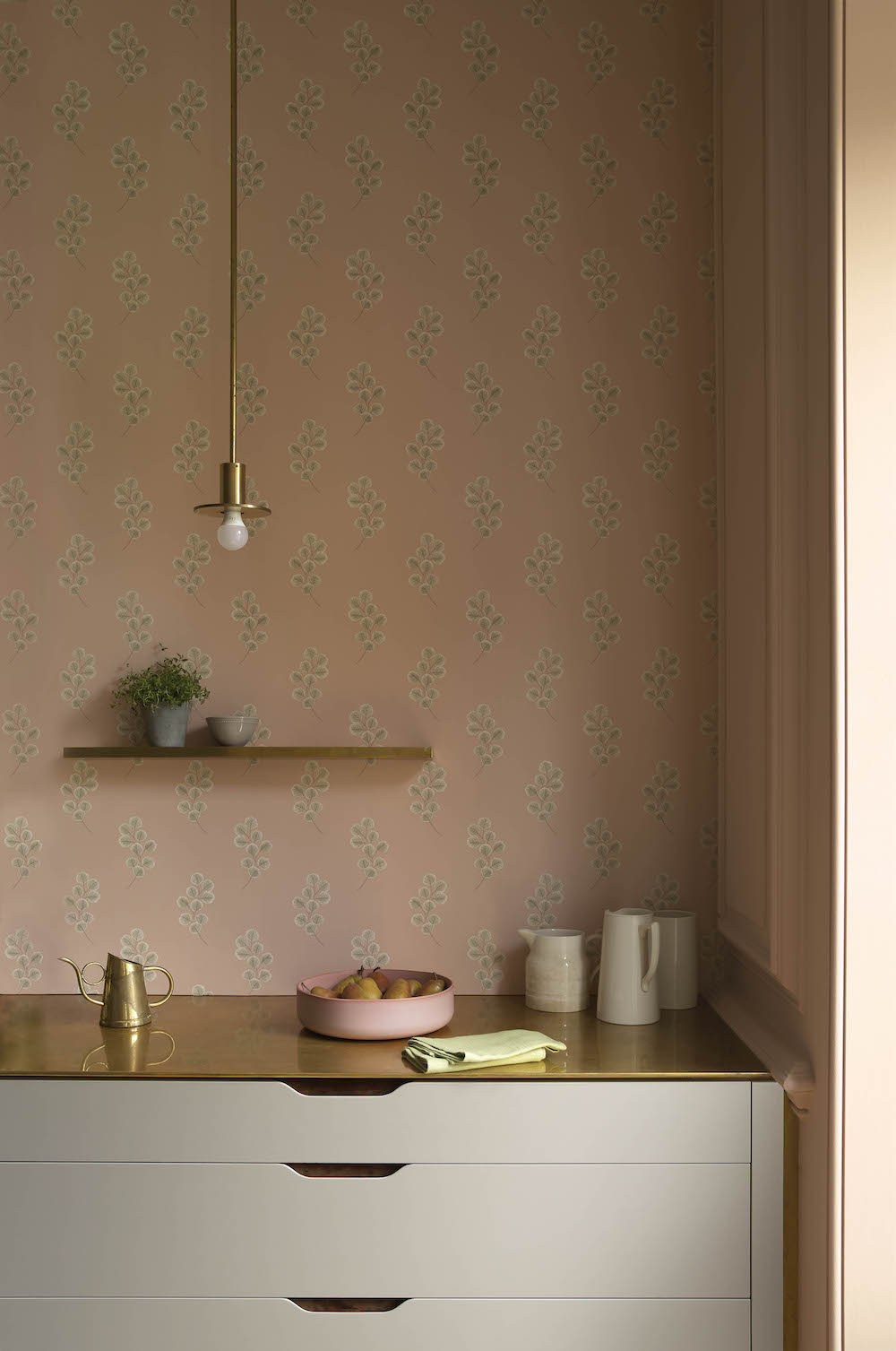 Styling ID Tips en Trends Paint & Paper Library behangcollectie PL Botany - Honesty Detail