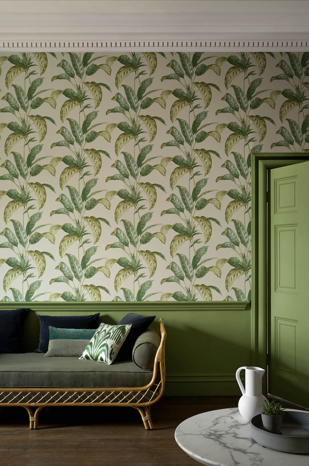 Styling ID Tips en Trends Paint & Paper Library behangcollectie PL Botany - Tropicane