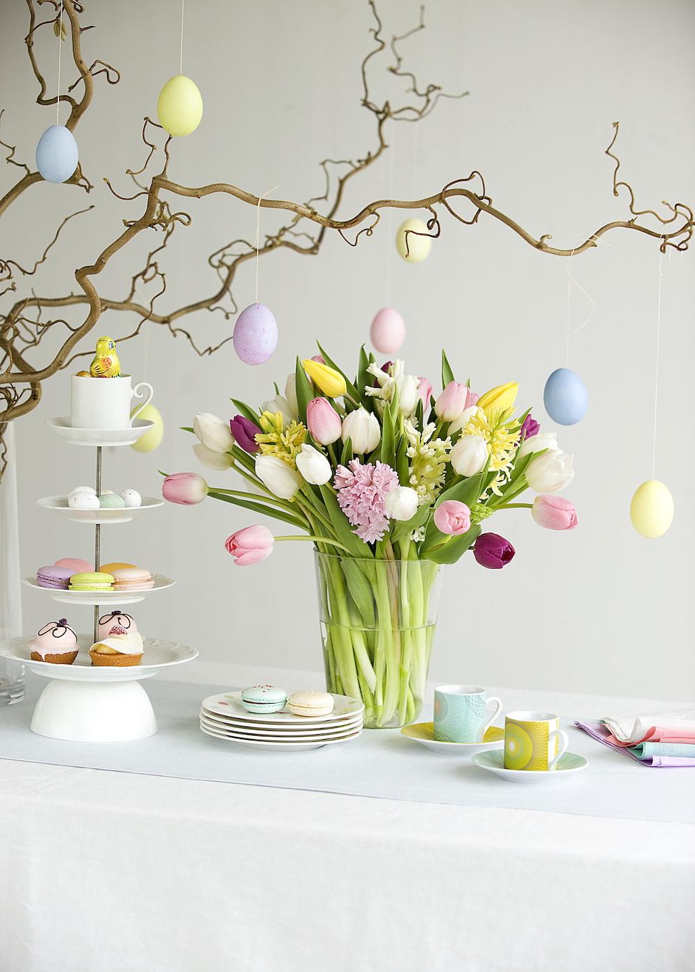 Takken en tulpen voor Pasen